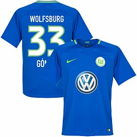 VfL Wolfsburg Away Gomez Jersey 2017 / 2018 (Fan Style Printing)