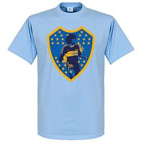 Maradona Boca Crest Tee - Sky