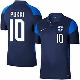 20-21 Finland Away Shirt + Pukki 10 (Fan Style)