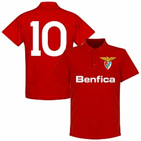 Benfica 10 Team Polo Shirt - Red