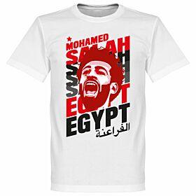 Salah Egypt Portrait Tee - White