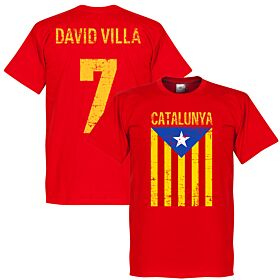Catalunya David Villa Tee - Red