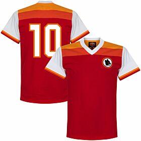 78-79 AS Roma Retro Shirt + No.10 (Ancelotti)
