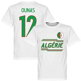 Algeria Ounas 12 Team T-Shirt - White