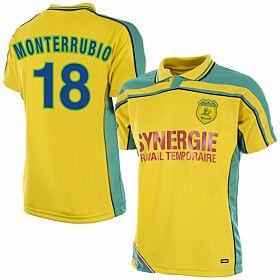 Copa FC Nantes Home Retro Shirt 2000-2001 + Monterrubio 18 (Fan Style)